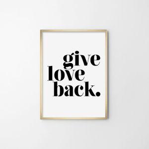 그래피 포스터(GIVE LOVE BACK) 인테리어 그림 포토