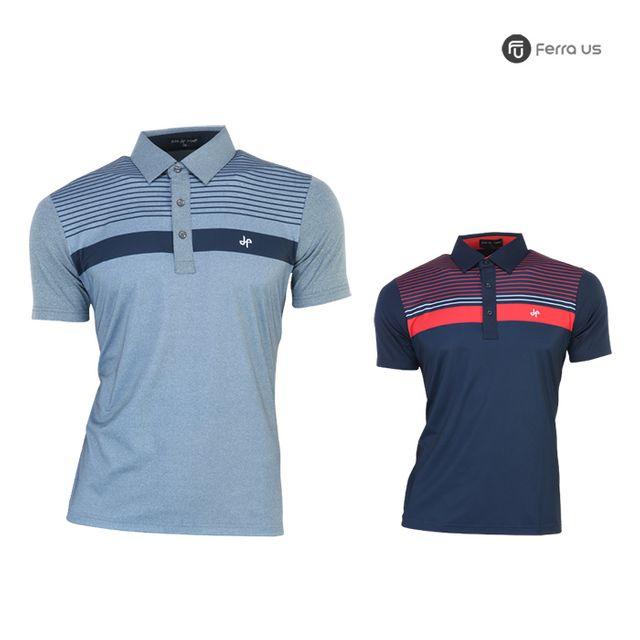 W TCC_페라어스 남성 골프 탑라인 반팔 티셔츠 CTDJ2043