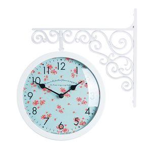 타임데코 Classic Double Clock Flower3(WH) 양면시계