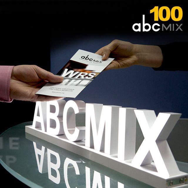 W ABC믹스100mm 자석조립 DIY 폰트조명 사인글씨