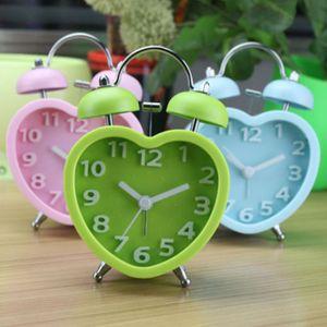 알루우 미니 하트 트윈벨 시계