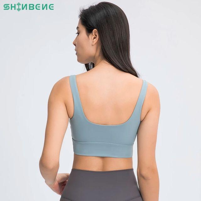 [해외] SHINBENE BACK DEEP-U Naked Feel 요가 스포츠 브라