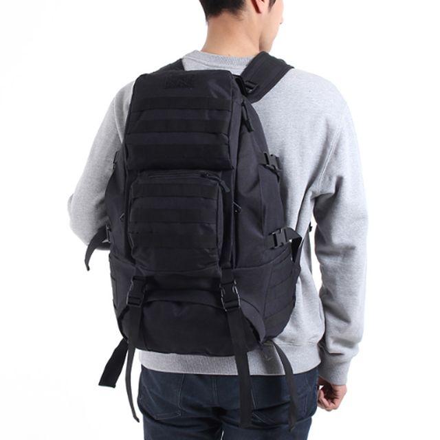 남성 밀리터리 등산 여행 가방 대용량 전술 검정 백팩