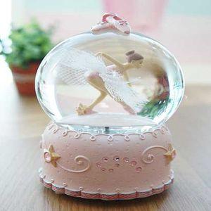 선물하세요 러블리 LED 핑크 발레리나 오르골