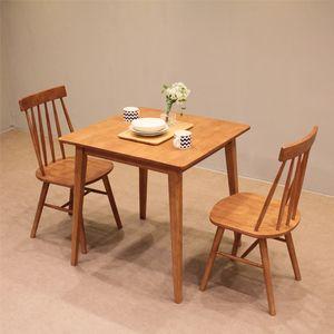 (리버퍼니쳐) 고무나무원목 앤코 2인 식탁세트