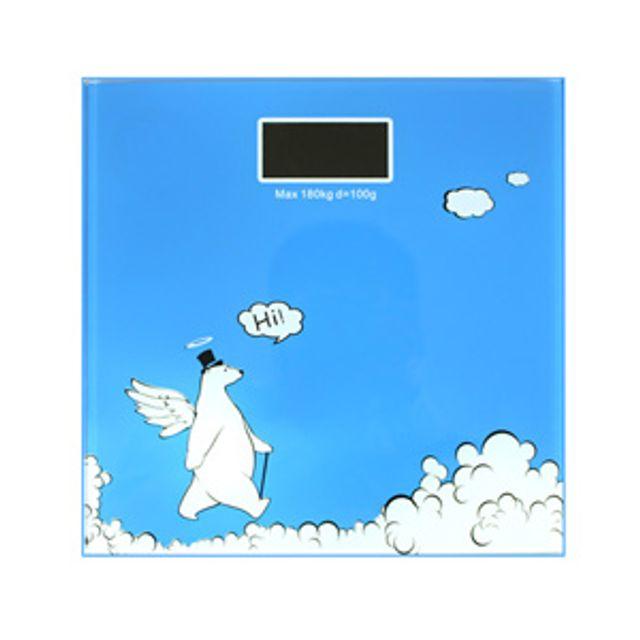 파란 천사곰 디지털체중계 몸무게 저울