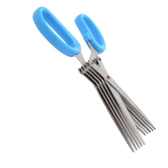 파다지기 채썰기 가위 채칼 다용도 주방 용품 블루