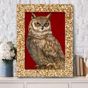부엉이그림 액자 1217G OWL8 풍수그림 돈들어오는
