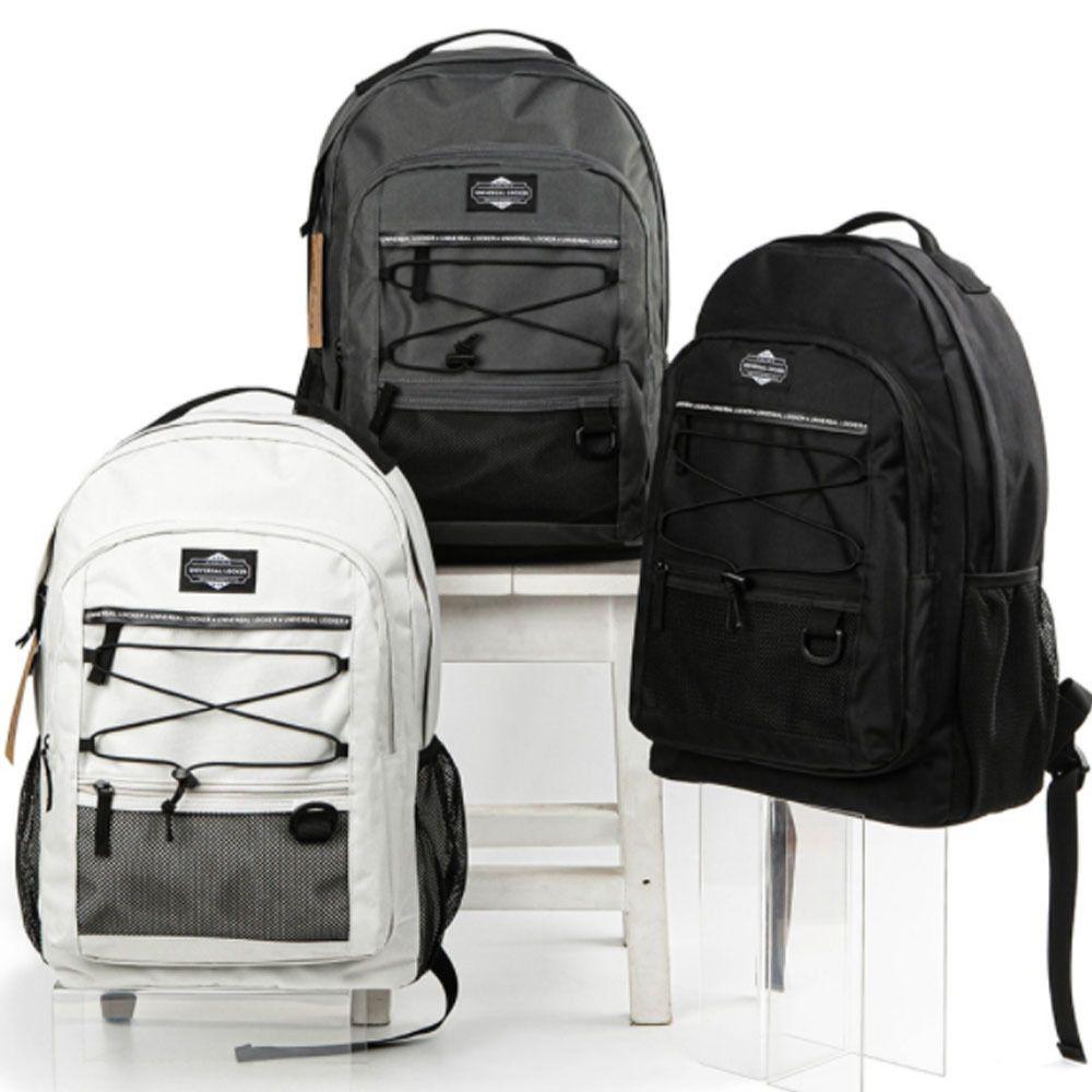 밴드스트링 백팩 망사 포켓 캐쥬얼백팩 학생가방
