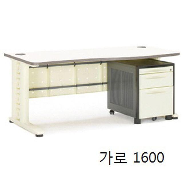 사무실 사무용 직원 업무용 컴퓨터 일자형 책상 1600