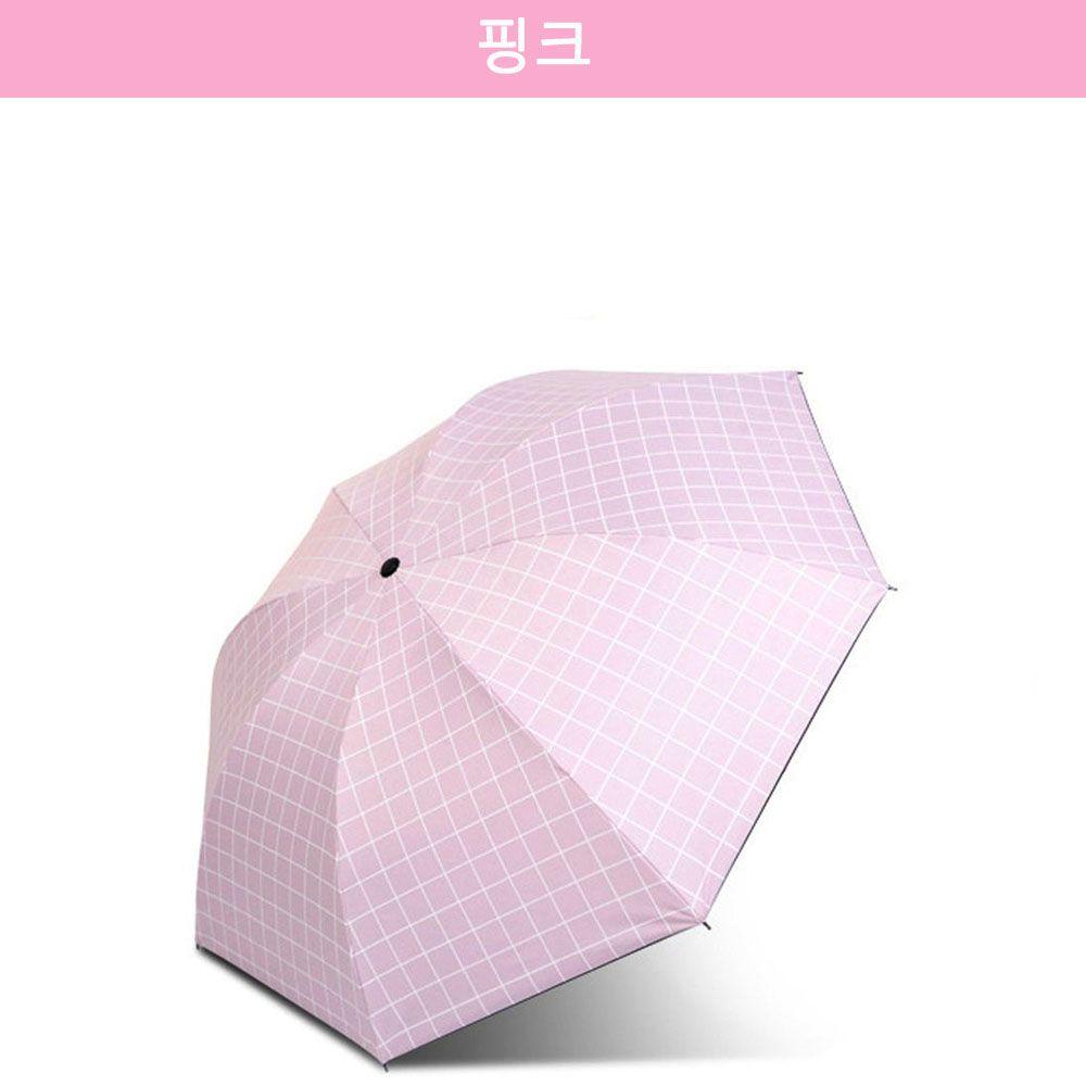 자외선 차단 유럽풍 암막 양산/우산 핑크