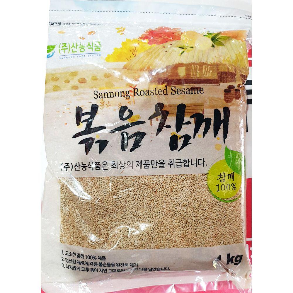 볶음 참깨 산농식품 1kg x10개 볶은 통깨 참께 업소