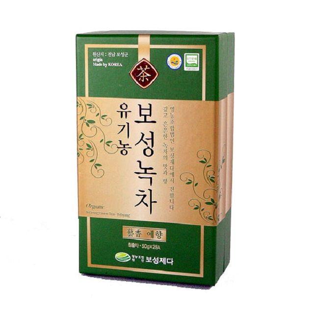 향긋한 향기의 보성 잎녹차 100g