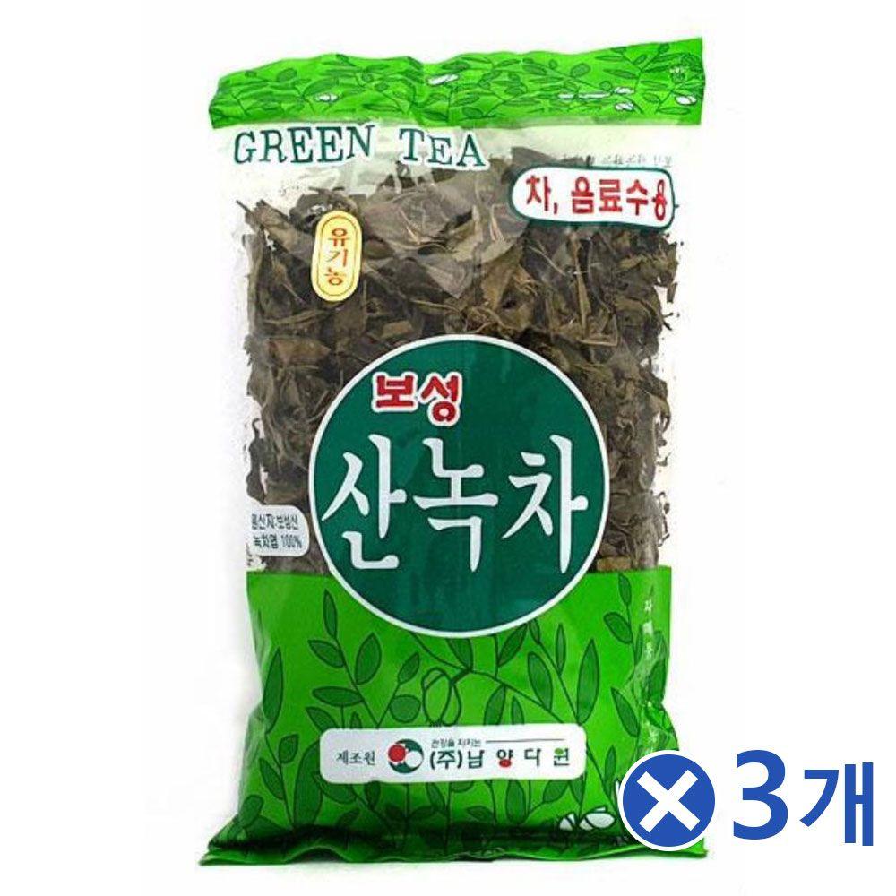100프로 보성산 녹차잎차 100gx3개 집에서즐기는 티백