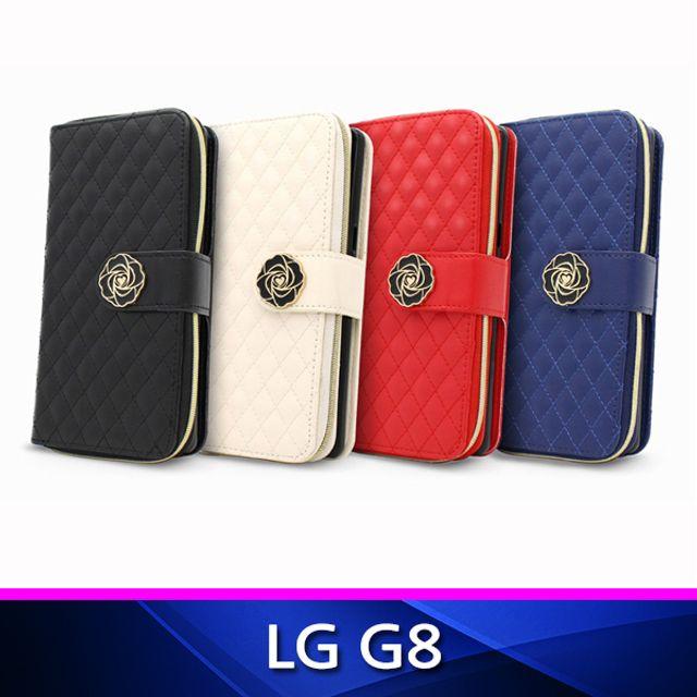 LG G8 퀼팅 지퍼 지갑형 폰케이스