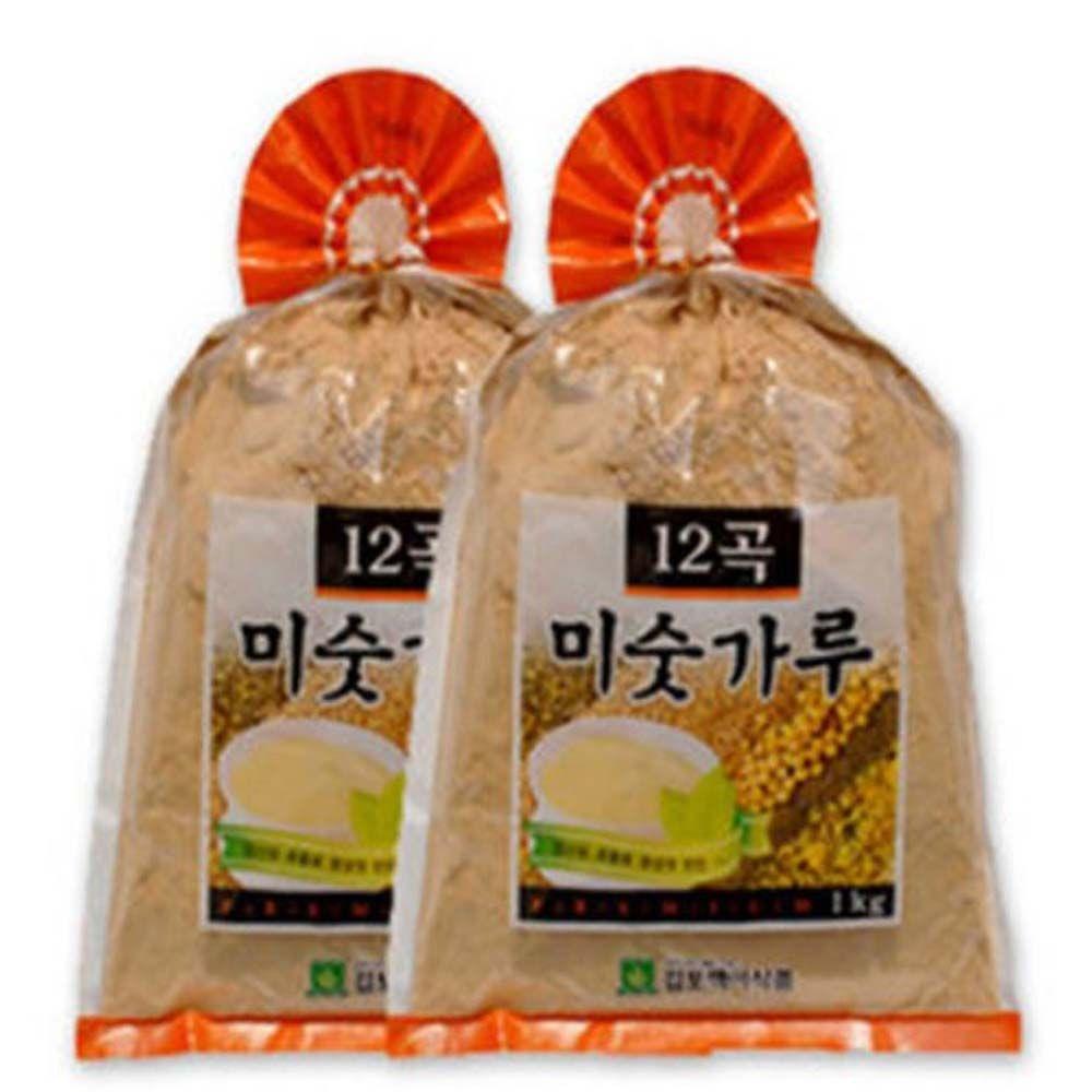 선식 12곡미숫가루1kg 2개/ 검은곡물1kg 1통 / 택1