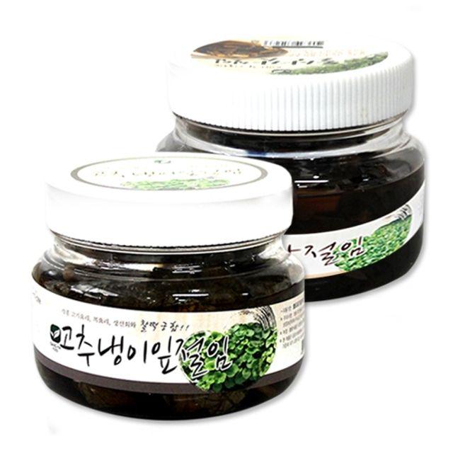 미소반 환상궁합 고추냉이잎 절임 300g 입맛 돋우는 돌산갓 절임 300g