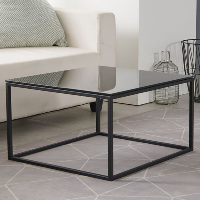 하우스틸 철제 강화유리 거실 테이블 550
