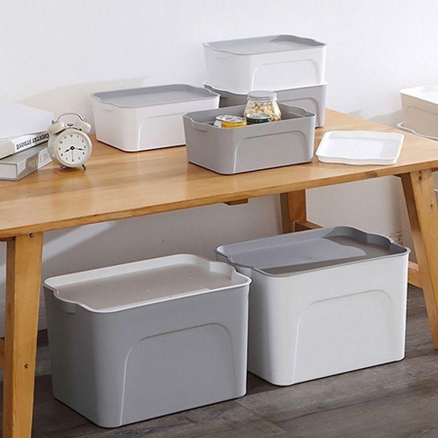 인테리어 소품 리빙 박스 다용도 수납 정리함 중형