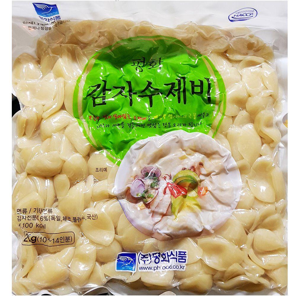 업소용 식당 식자재 재료 평화 감자수제비 2kg X5