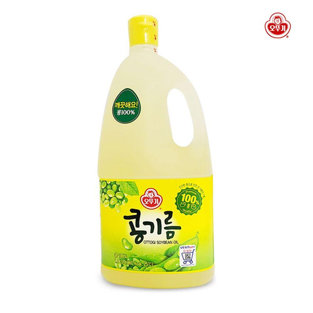 오뚜기 콩기름 1.8L/ 식물성 기름/ 튀김요리 부침개