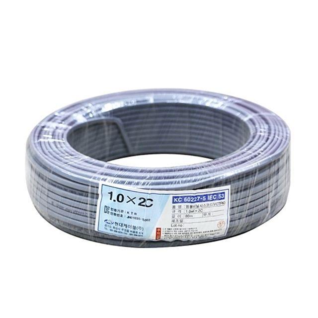 장원형전선 1.0SQx2C(80M) 산업용품 케이블