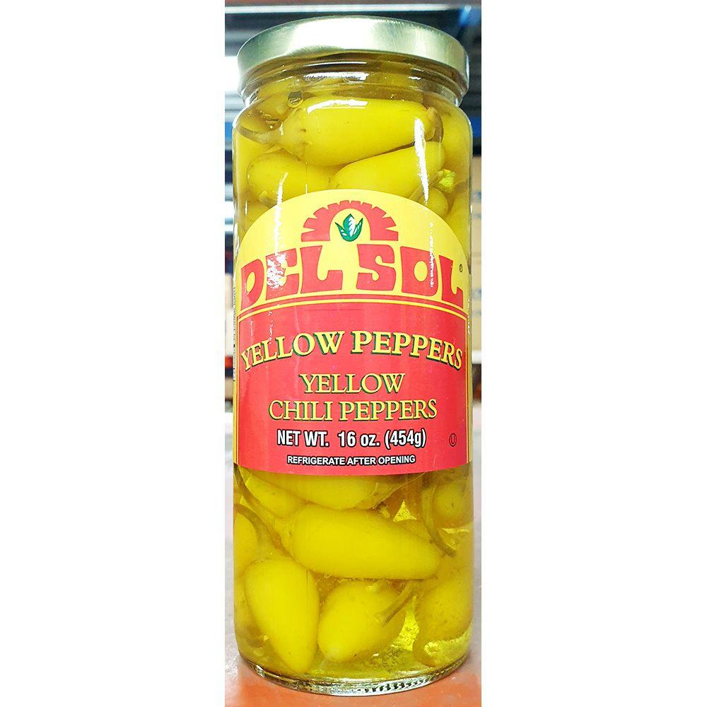 델솔 옐로우 칠리 페퍼스 454g x12개 절임 식품 반찬