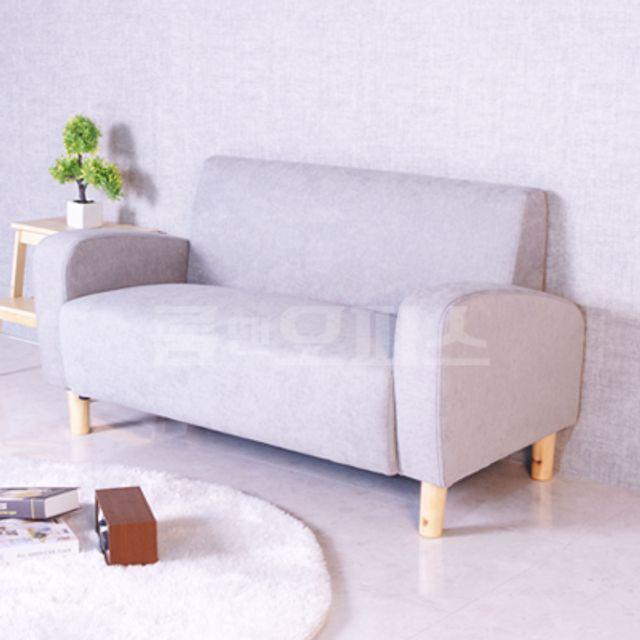 패브릭 2인 소파 Y1019-GR 거실 인테리어 의자 가구