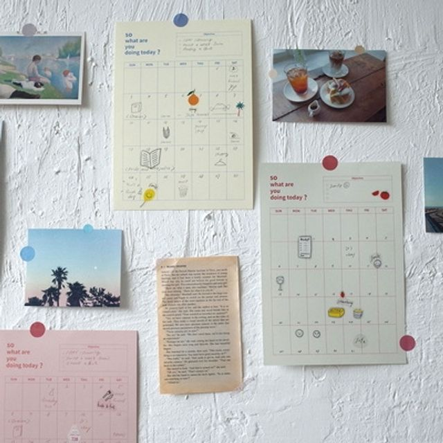 만년 포스터 달력 월간 계획 일정 체크 기록 182X257