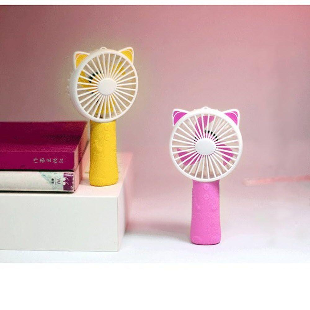 귀여운 디자인 LED 컴팩트 사이즈 목걸이 선풍기