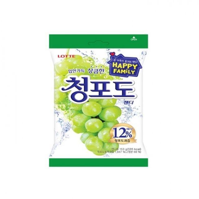 롯데 청포도 캔디 128g 20봉지 박스 달콤 과즙 사탕