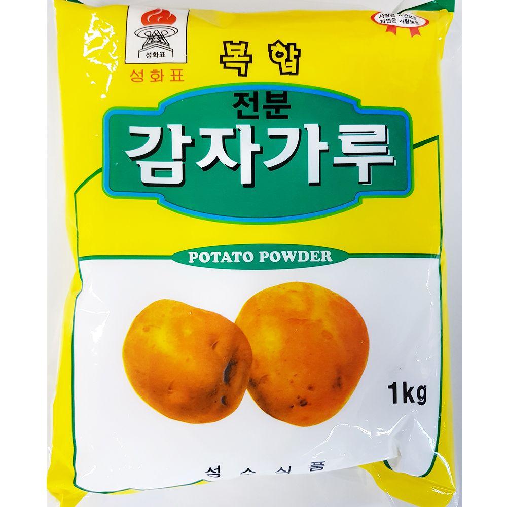 감자 전분 가루 성수 1kg x4개 식당 업소용 식당용