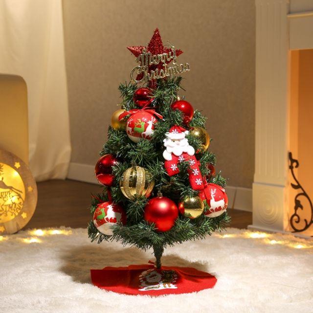크리스마스 60cm 큐티산타 스카치트리 풀세트 인테리어 트리 성탄절 장식 54094C