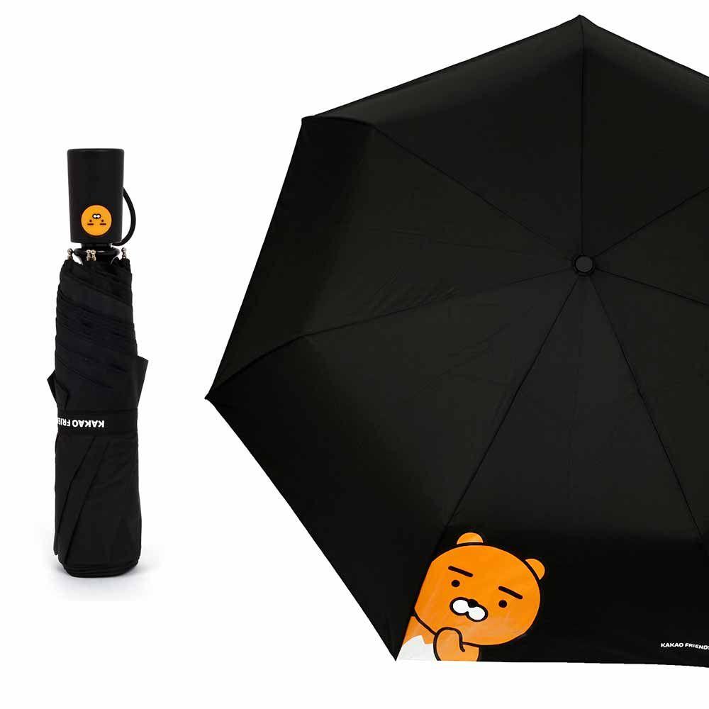 카카오프렌즈 헬로 55 완전자동우산-라이언(블랙)
