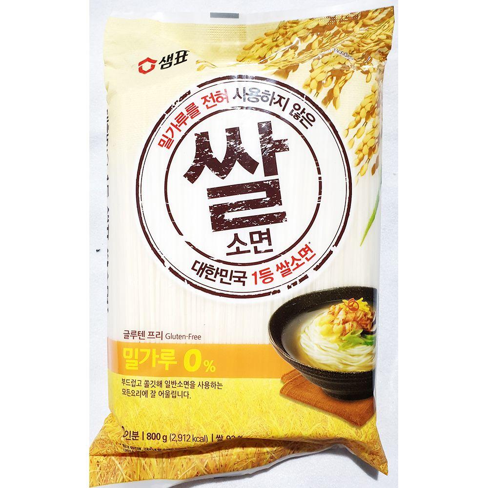쌀소면 샘표 800g x12개 잔치 국수 누들 업소 식당