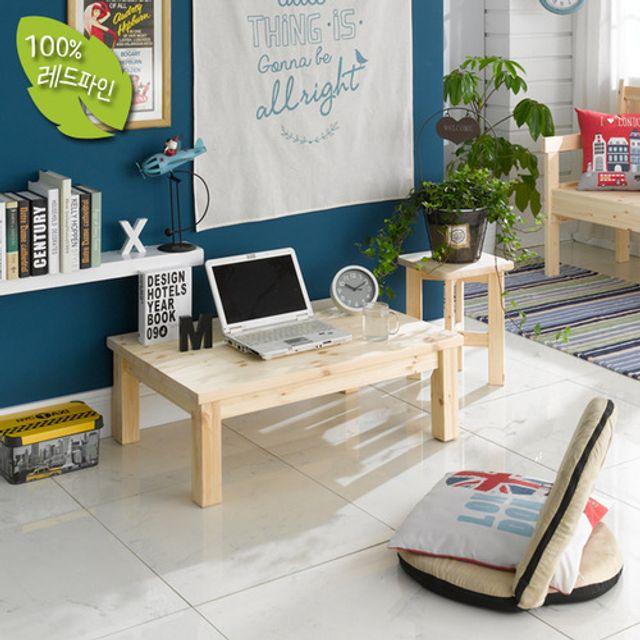 좌식책상900 조립식 원목 낮은테이블 공부방 컴퓨터상
