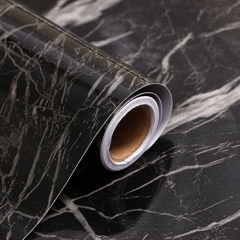 인테리어 대리석 시트지 3M 블랙 유광 마블시트
