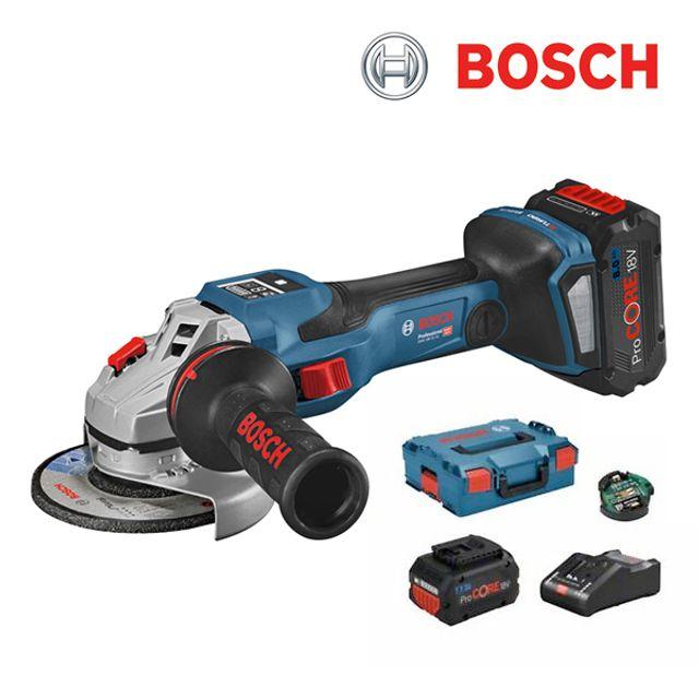 보쉬 GWS 18V 15 SC 충전 앵글 그라인더 세트