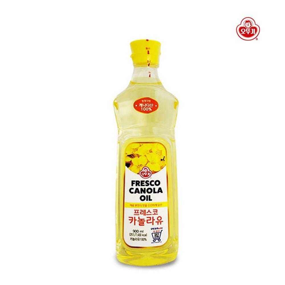 오뚜기 프레스코 카놀라유 900ml/ 튀김요리 기름