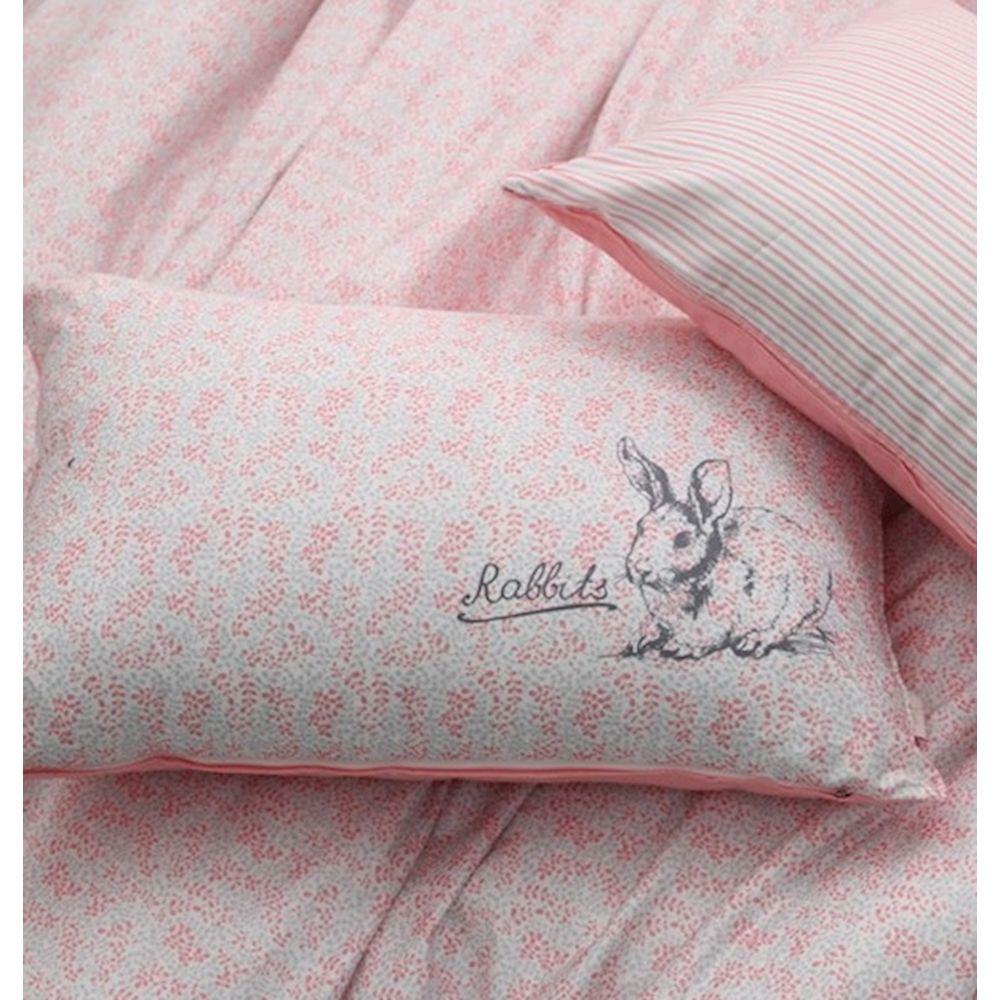 토끼무늬 주니어 침구세트 핑크 주니어침구세트