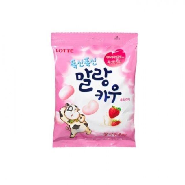 롯데 말랑카우 딸기 158g 8개 츄잉캔디 대용량 사탕
