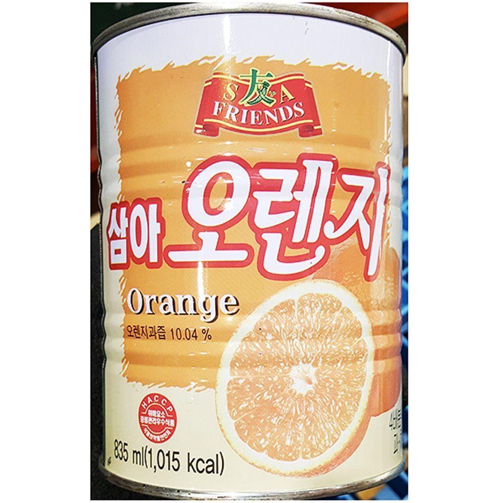오렌지 농축액 삼아 835ml X12개 음료 원액 엑기스