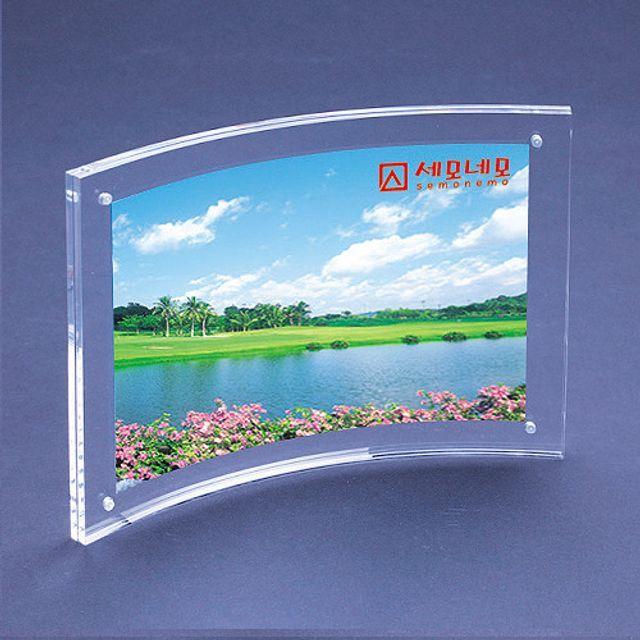 아크릴 자석 고정 액자 3R 127x89mm 5개 투명 커브