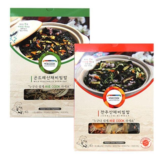 바로COOK 누구나 쉽게 만들어먹는 건나물밥 2종 2호(곤드레산채비빔밥 25g 3팩 전주산채비빔밥 30g 3팩)