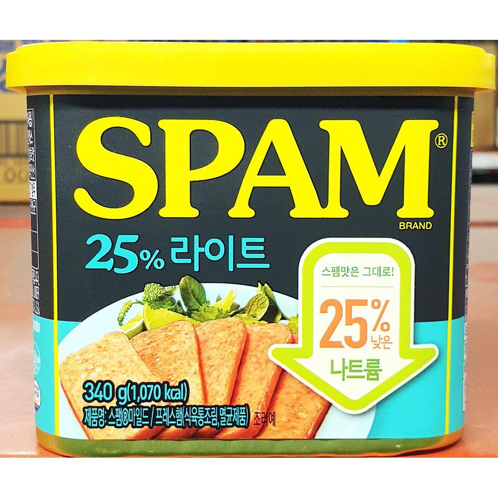 스팸 햄캔 25프로 라이트 340g x20개 통조림 식당