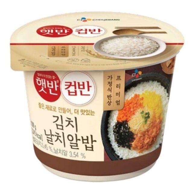 햇 반 컵반 김치 날치알밥 188g x 18개