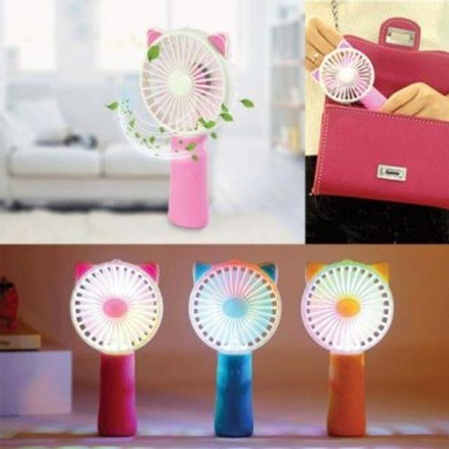 고양이 LED 선풍기 충전식 핸디선풍기 USB FAN