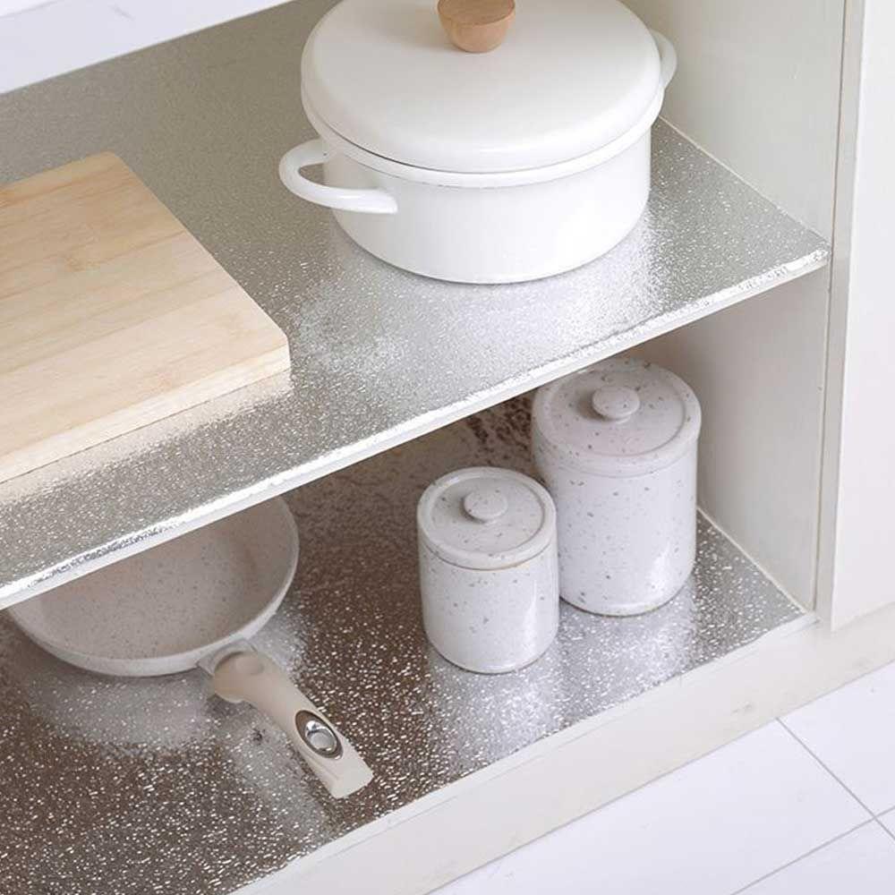 깔끔한 주방 꾸미기 다용도 시트지 은박 오염 방지