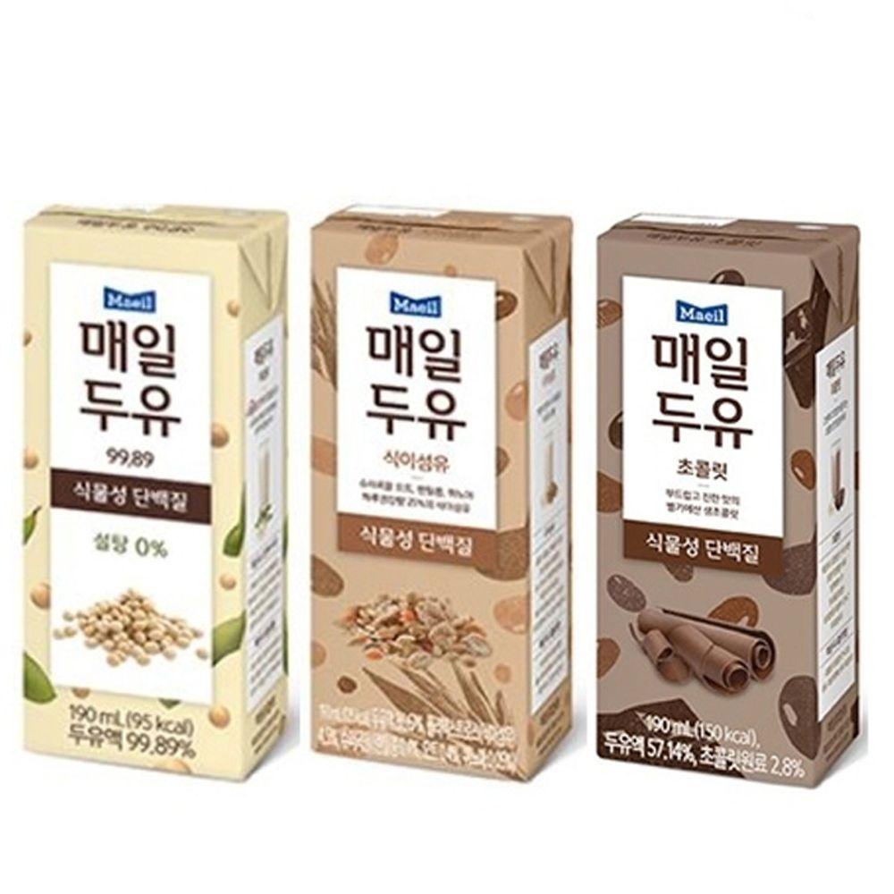 매일두유 99.89 / 식이섬유 / 초콜릿 190ml x 24팩