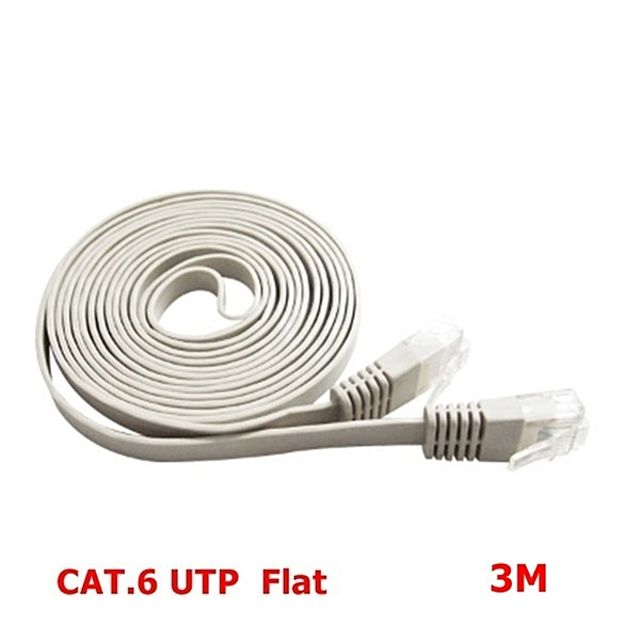(NTS) CAT.6 UTP 기가비트 플랫 랜케이블(그레이)-3M (WH2980)